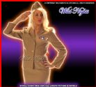 FANCY DRESS COSTUME * DELUXE 1940'S ARMY LADY SM 8-10